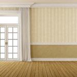 Комбинирование обоев в гостиной горизонтальные полосы