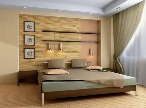 Бамбуковые обои для стен частичная отделка