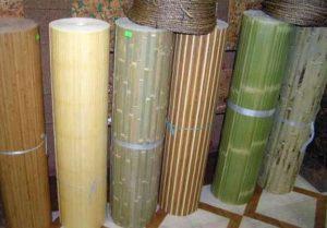 Бамбуковые обои для стен в рулонах