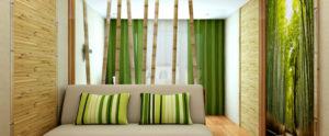 Бамбуковые обои для стен в спальне