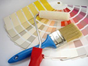Инструменты для покраски бумажных обоев