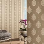 Текстильные обои на флизелиновой основе в интерьере