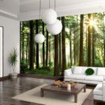 Фотообои лес, зелёные, природа