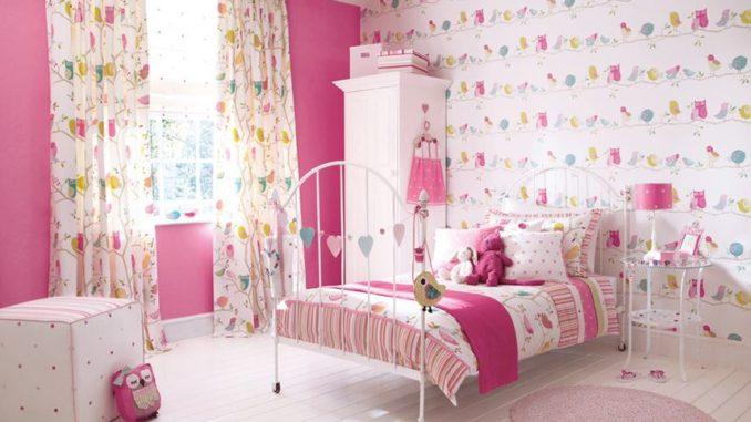 Фотообои для детской комнаты (оформление для девочки), фото