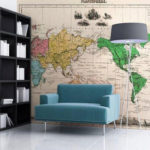 Фотообои карты мира на стену для детей и взрослых