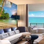 Фотообои моря и океаны в интерьере гостиной