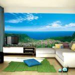 Фотообои моря и океаны в интерьере гостиной 2