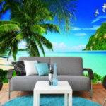 Фотообои моря и океаны в интерьере гостиной 4