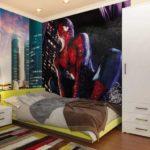 Фотообои в детской комнате любимые супергерои для мальчика