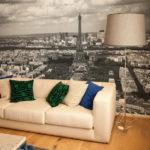 Фотообои в гостиной города и страны 4