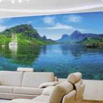 Фотообои в гостиной горы и реки 2