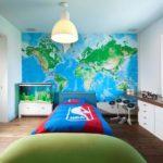 Фотообои в комнату мальчика карта мира