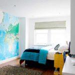 Фотообои в виде карты мира морей и океанов