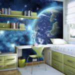 Фотообои вид из космоса для детской комнаты мальчика