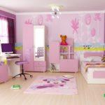 Комбинирование обоев в детской комнате,используя бордюры