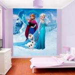 Простые обои для детской комнаты девочки комбинирование с фотообоями