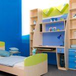 Синие обои в комнаты мальчика