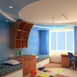 Синиие и голубые обои для детской комнаты мальчика