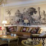 фотообои этнические композиции в интерьере гостиной 2