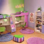 сиреневые обои для комнаты разнополых детей