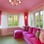 Розовые обои для гостиной фото в интерьере